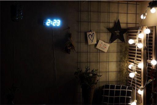 デジタル時計 壁掛け時計 時計 LED時計 オシャレ時計