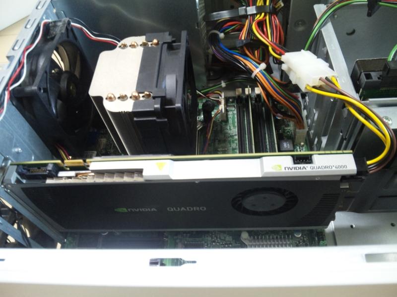 NVIDIA® Quadro® 4000 の設置