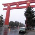 卒展見に行った帰り。京都寒い!
