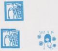 [舞美][愛理]「Black Angels」「携帯彼女」発売記念イベント(3回目公演)スタンプ色紙