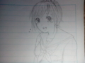 少女漫画の主人公ちゃん。リクで落書きした。