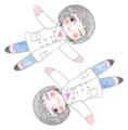 m作の舞音と舞詩(ミニキャラ)