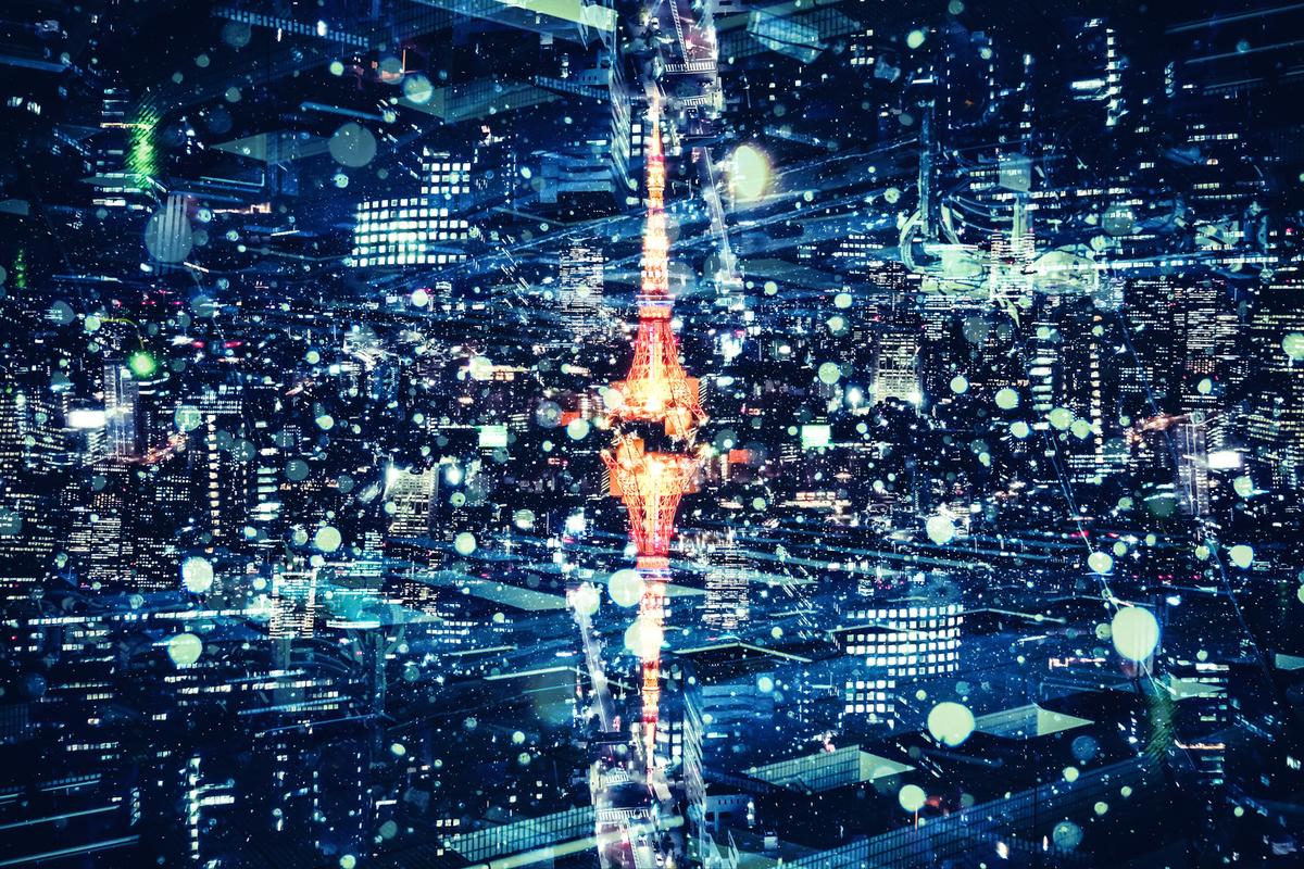 東京タワー 夜景 ビル