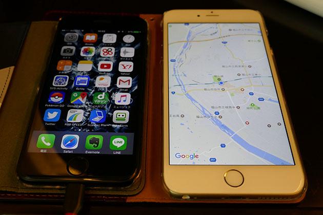速度調査用のiPhone6、iPhone6plus