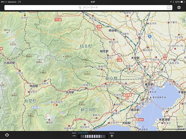 いつもNAVIの地図画面