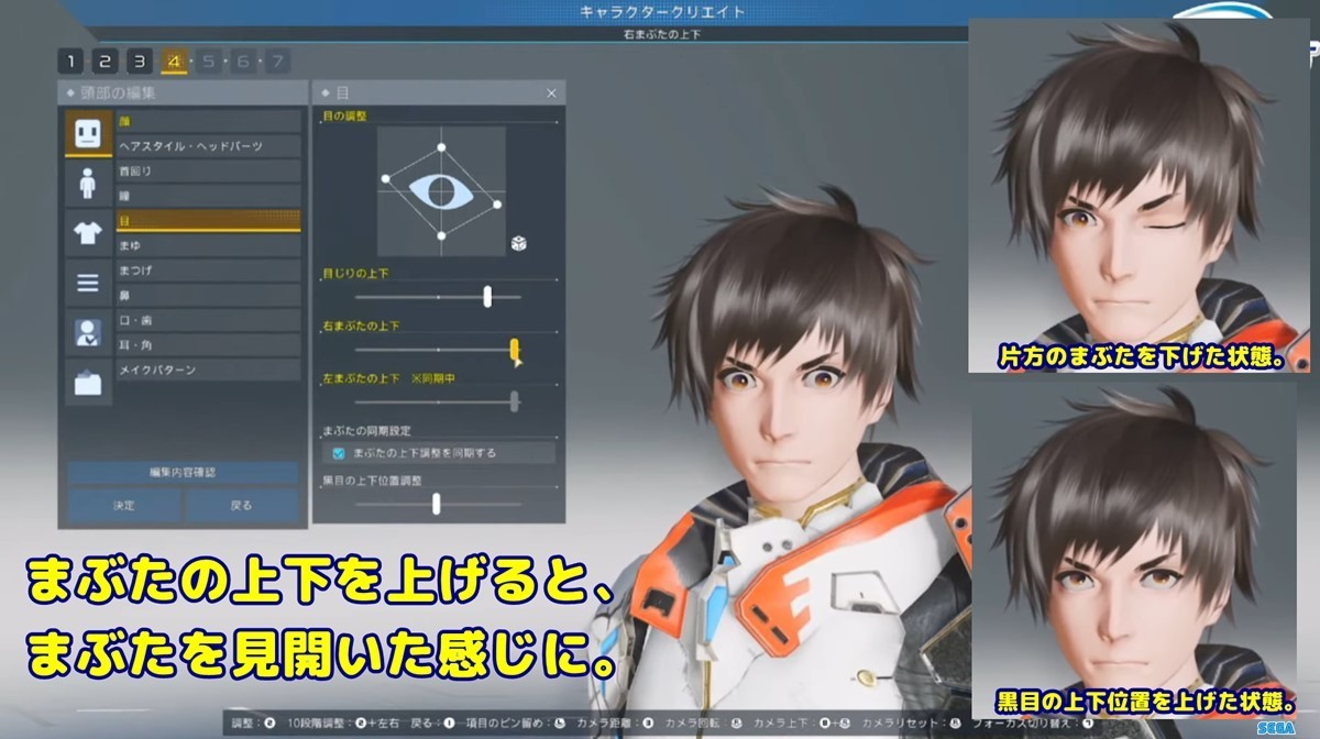 PSO2NGSまぶたの上下