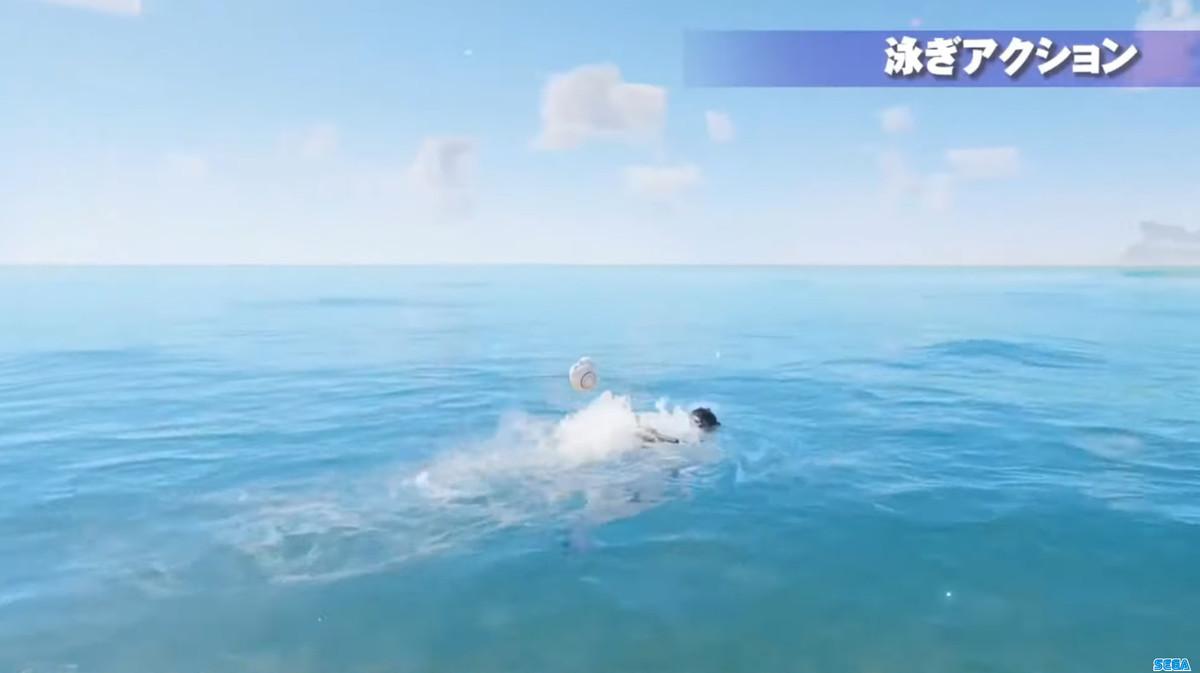 泳ぎアクション