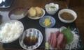 [twitter] 港の大衆食堂でお昼。マグロ定食850円。この量では安すぎる。味も美