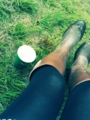 世話になった長靴