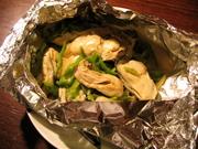 牡蛎のホイル焼き