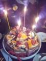 この歳なのに家族みんなに祝ってもらえる幸せな誕生日。