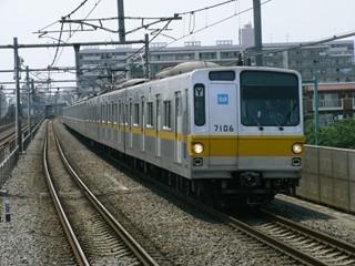 東京メトロ7000系 準急新木場 中村橋