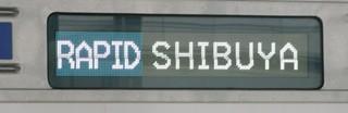西武6000系[快速|渋谷]側面英字表示