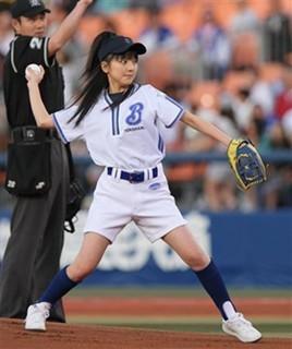 真野恵里菜 始球式9