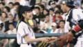真野恵里菜 始球式10