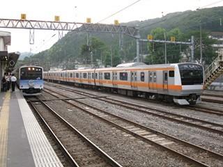 201系四季彩・E233系並び(青梅)