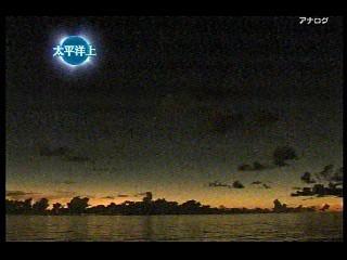 皆既日食キャプ(NHK)6