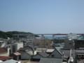 [Buono!ロケ地探訪]頂上あたりから城ヶ島大橋を見るアングル1