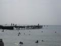 [Buono!ロケ地探訪]3:00くらいで映っている荒井浜海岸の飛び込み台付近