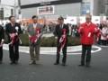 久米川駅前広場完成記念式典 テープカット3
