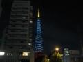 [イルミネーション]東京タワーダイヤモンドヴェール 緑(赤羽橋交差点付近から)