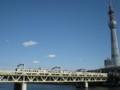 東京スカイツリー 隅田公園 東武6050系 上り