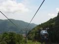 ロープウェイ途中からの景色