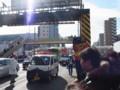 ランナー京急蒲田通過直前のパトカー