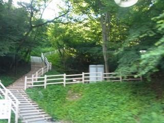 旧熊ノ平駅入り口への階段)※車窓から