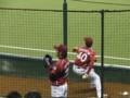 ブルペン 投球練習 土屋