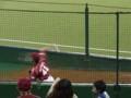 ブルペン 投球練習 青山
