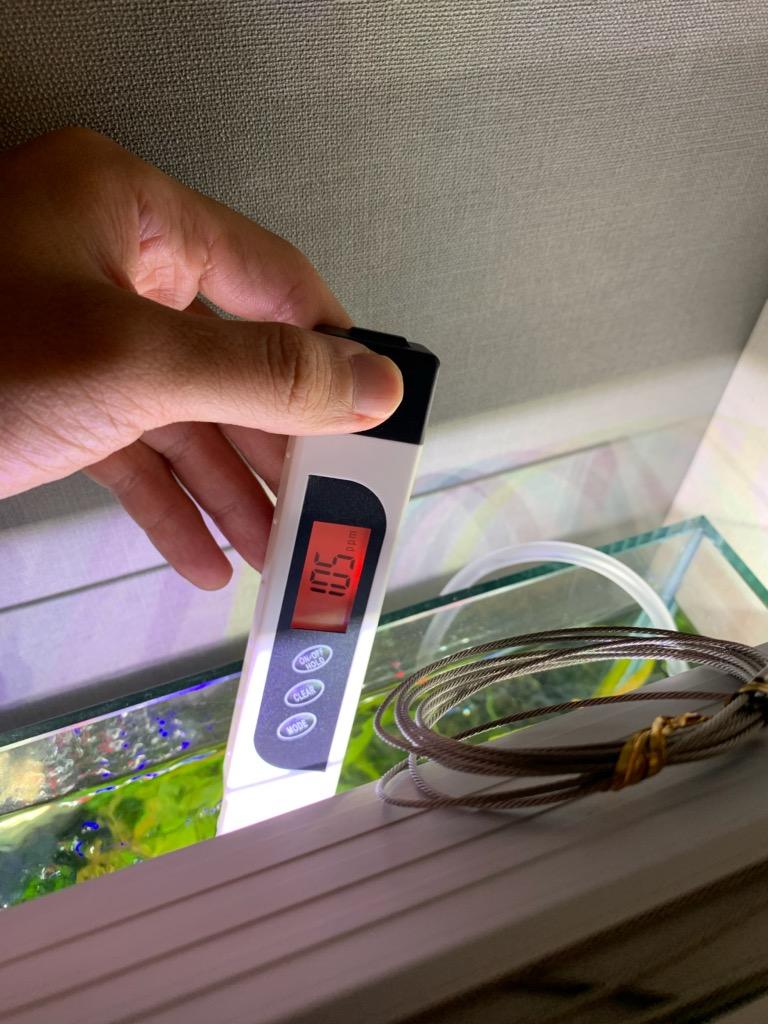 30cmキューブ水槽のPPM測定