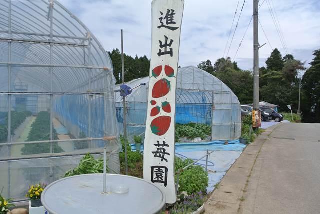 いちご園の看板の写真