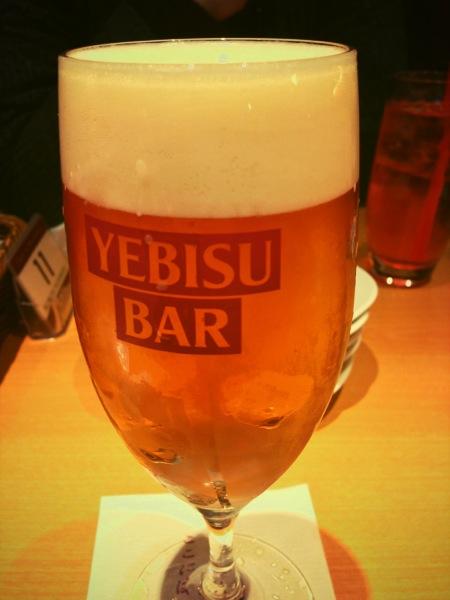 ヱビスバーの苺姫 (ヱビス+とちおとめのリキュール)