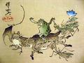 猪に乗る蛙