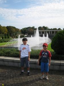 青葉の森公園 西洋庭園の噴水