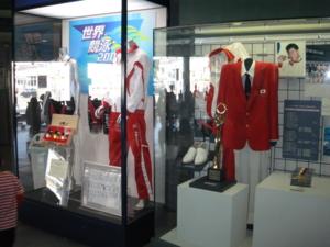 千葉県国際水泳場 世界大会の展示物