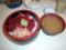 鉄火丼(600円)+蜆の味噌汁(100円)
