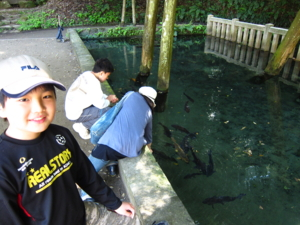 鹿島神宮 御手洗 と 我が家族