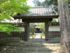 長勝寺 本堂裏の門