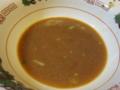 食べ終えたスープ