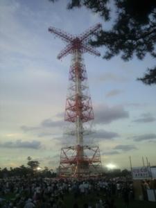 夕方の降下塔