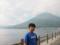 中禅寺湖と男体山と次男
