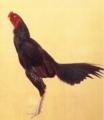 田中一「軍鶏図」