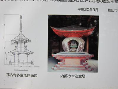 多宝塔内部の木造宝塔