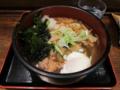 鶏ちゃんこ蕎麦+無料トッピング全部+温玉(0円)