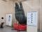 原寸大、奈良大仏の手の展示