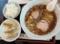 B定食[ラーメン・小ライス・半餃子](900円)。