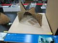 殿の結婚式場の建築模型