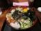 山かけ納豆そば[冷](480円)+無料トッピング全部+生玉子(0円)